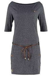 Ragwear Tanya Jersey Dress Black Melange Mottled Grey