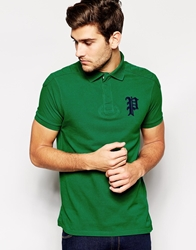 Polo Ralph Lauren Polo Shirt With Gothic Applique Athleticgreen