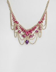 Little Mistress Jewelled Statement Necklace Gold