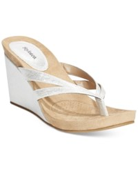 Styleandco. Style And Co. Cassiee Wedge Sandals Only At Macy's Women's Shoes Silver