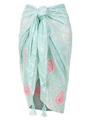 Accessorize Beach Sarong Light Green