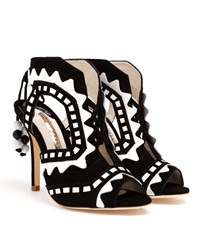 Sophia Webster Open Toe Riko High Heels White Black