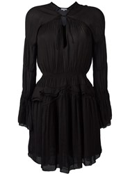 Iro Draped V Neck Dress Black