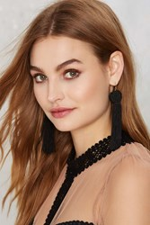 Nasty Gal Vanessa Mooney Astrid Tassel Earrings Black