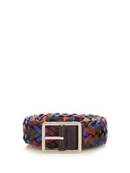 Paul Smith Woven Leather Belt Black