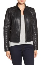 Bernardo Women's Quilted Leather Moto Jacket