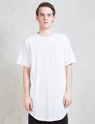Knyew White E Long Scoop T Shirt