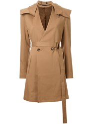 G.V.G.V. Hooded Coat Brown