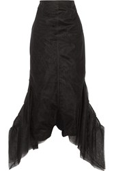 Rick Owens Flared Mesh Jumpsuit Black