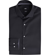 Hugo Boss Slim Fit Cotton Shirt Dark Blue