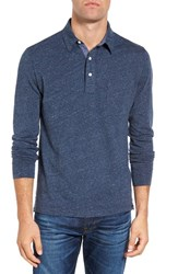Faherty Men's Heathered Jersey Polo Navy