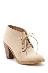 Restricted Penny Lace Up Bootie Beige