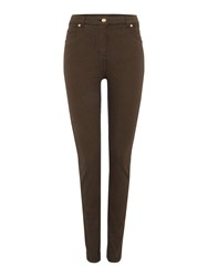 Biba Plain Super Stretch Skinny Stevie Jeans Khaki