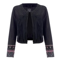 Lea Lov Lilly Jacket Mad Cow Embroidery Black