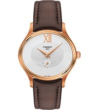 Tissot T103.310.36.033.00 Bella Ora Piccola Rose Gold Plated Stainless Steel And Leather Watch