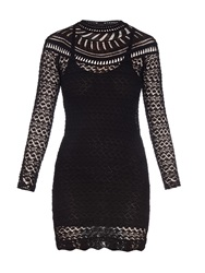 Isabel Marant Davy Long Sleeved Crochet Knit Dress