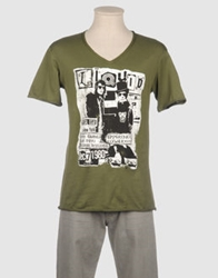Liquid Short Sleeve T Shirts Khaki