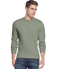 Club Room Big And Tall Solid Tipped Crew Neck Sweater Gypsy Green Heather