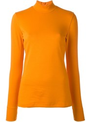 Paul Smith Ps By Turtleneck Jumper Yellow And Orange