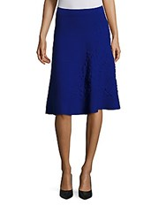 Escada Embossed Knit Skirt Royal