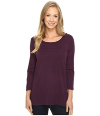Mod O Doc Classic Jersey Back Rib Vented Tee Aubergine Women's T Shirt Purple