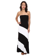 Culture Phit Fannette Stripe Maxi Dress Black White Women's Dress
