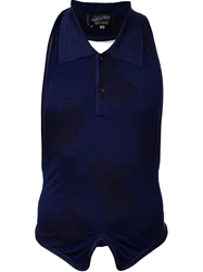 Jean Paul Gaultier Vault Halter Neck Top Blue