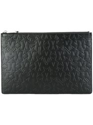 Givenchy Logo Embossed Clutch Black