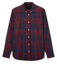 Jaeger Men's Sanded Overpane Check Shirt Red