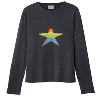 Orwell Austen Cashmere Stars And Stripes Rainbow Cashmere Sweater Grey