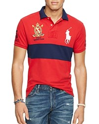 Polo Ralph Lauren Color Block Regular Fit Polo Shirt Red