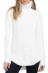 Rvca Women's Turtleneck Pullover Vintage White