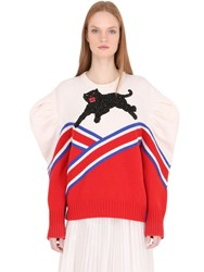 Gucci Panther Embellished Merino Wool Sweater