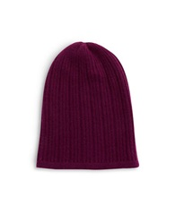 Lord And Taylor Knit Cashmere Slouchy Hat Port