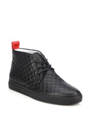 Del Toro Quilted Leather Chukka Sneakers Black