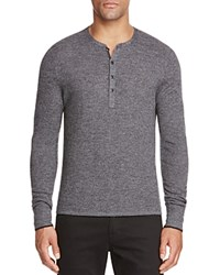 Rag And Bone Giles Merino Wool Henley Charcoal