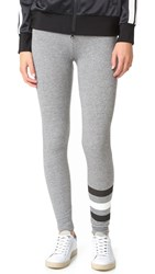 Sundry Stripes Yoga Pants Heather Grey