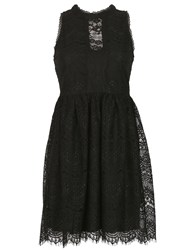 Blue Vanilla High Neck Victorian Lace Dress Black