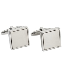 Kenneth Cole Reaction Polished Square With Brushed Center Cufflinks Silver