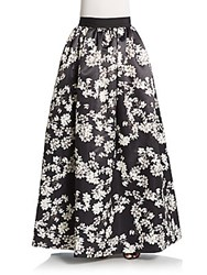 Alice Olivia Tina Long Ball Skirt Black