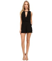 Adelyn Rae Keyhole Romper Black Women's Jumpsuit And Rompers One Piece