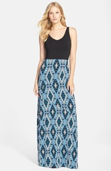 Tart 'Delaney' Jersey Maxi Dress Ikat Diamonds