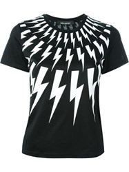 Neil Barrett Lightning Bolt T Shirt Black