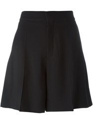 Chloe Pleat Front Shorts Black