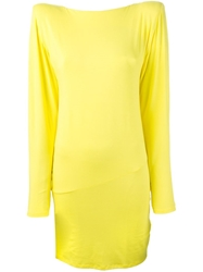 Alexandre Vauthier Drapey Back Fitted Dress Yellow And Orange