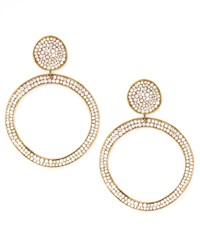 Stardust Snowman Post Pave Gold Earrings Ippolita