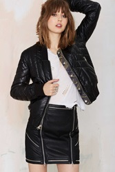 Nasty Gal Blank Nyc Side Piece Quilted Bomber Jacket