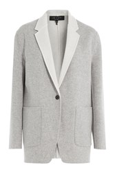 Rag And Bone Reversible Wool Blazer Grey