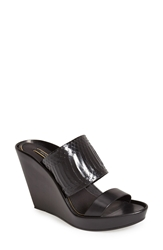 Rachel Zoe 'River' Genuine Snakeskin And Leather Sandal Women Black