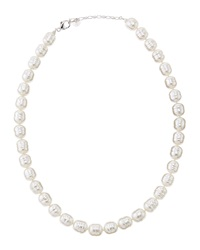 Majorica Faux Pearl Cylinder Collar Necklace